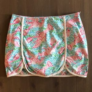 Lilly Pulitzer Lobstah Roll Skort, Size 00